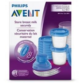 Pots de conservation pour lait maternel